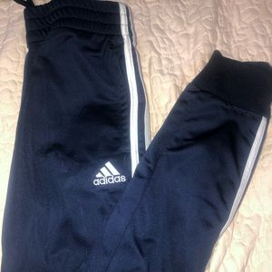 navy classic striped joggers